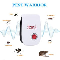Ultrasonic Pest Reject Repeller Pest Control Electronic Anti Rodent Insect Repellent Mosquito Killer Red