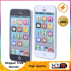 Baby Smart Touch Screen Mobile Phone Toys with LED Baby English Learning Machine Music Lights Phone White one size