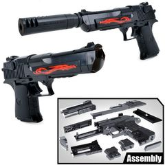 FBK  Assembly Toy Gun Building Blocks Pistol Rifle DIY 3D Miniature Model Plastic Gift for Boy Kids As picture One size