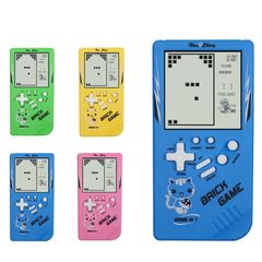 FBK Handheld Game Players Tetris Childhood Game Electronic Game Toys Game Console Riddle Educational Random color One size
