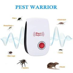 Ultrasonic Electronic Pest Reject Repeller Home Indoor Pest Control Anti Rodent Non-Toxic Safe Red
