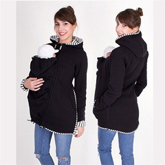 multifunctional mother kangaroo Baby Pouch for women clothes ladies dress Maternity Wear black S