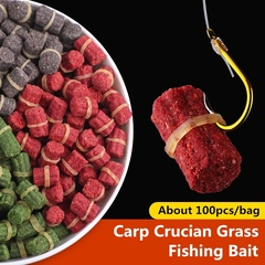 100pcs/bag Carp Fishing Bait Fresh Scent  Crucian Grass Carp appâts de pêche red