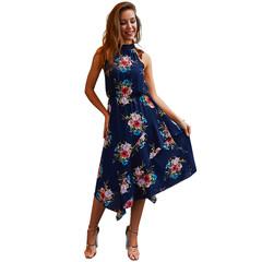 2019 Summer Dresses New Boho Dresses Vest Dress Sleeveless Dress s blue