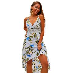 2019 Attack New Dresses for Women Short Before Long Women Dress xl white