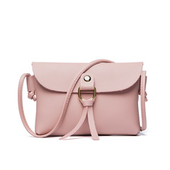 New Fashion Bag Mini Shoulder Bag PU Leather Messenger Bag Crossbody Bag Handbag pink 16*12*2cm