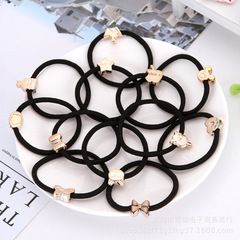1PC Elastic Hair Band Ponytail Tie Bow Rubber Bands Girls Hair Accessories black