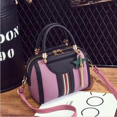 Female Korean version of the sweet and stylish women's bag slung shoulder bag purple 23*11*17*11cm