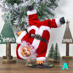 Christmas Toys Electric Santa Claus Playing Piano Music Dolls Ornaments Party Supplies A one size