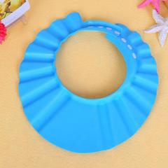 Baby  Bath Visor Hats Adjustable Shield Waterproof Ear Protection Eye Children Hats Infant  Cap Blue One size