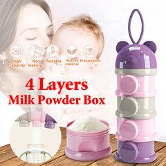 Baby food storage box portable baby baby large capacity milk powder can baby milk powder purple one size