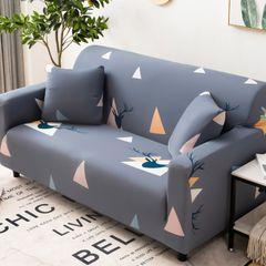 Hotsell Sofa Slipcover Sofa set Sofa Covers Stretch Fabric Pattern Elastic Chair geometry 3 seat (190-230cm) +1 pcs pillow case