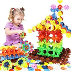 300 PCS Kids Children DIY Letter Snowflake Puzzle Building Blocks Learning Educational Toys 120 pcs 3 cm