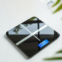 Weight Scale for body Electronic Digital Floor Bathroom Weight Scale LCD Display Backlight180kg/50g black 26 x 26cm