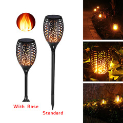 96 LED Solar powered LED Waterproof Lawn Flame Outdoor Solar LED Fire Lights Garden Decoration Standard 1pc 1W