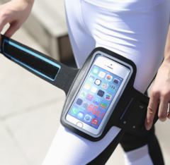 AmazonPSports outdoor arm bag fitness sports mobile phone arm with touch screen mobile phone arm bag random
