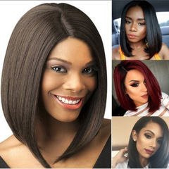Human Hair wigs  Short hair female woman hair Human Hair Wigs for Black Women Human Hair Wig Black rose net as picture