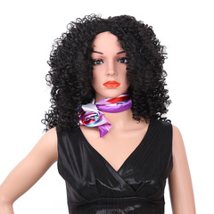 Tubular wig (Hot-selling headgear) black 16inch
