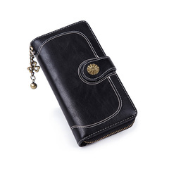 Retro Fashion New Lady's Wallet  Sunflower Bag Handbag  Simple Mobile Pack  Best Sellers Black 21*6*12cm