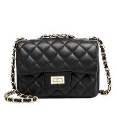 Women's Bag in 2019  New Linger Chain Bag Handbag  A lady's one-shoulder oblique Bag BLACK 20*7*14cm