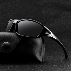 Polarizing night vision sunglasses sports polarized sunglasses men's outdoor cycling glasses All Black Nomal Size