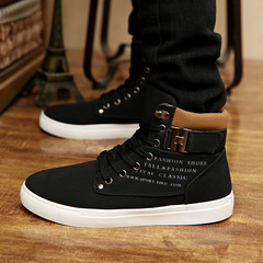 Men's Shoes Men's Trend Martin Boots Men's High Upper Board Shoes New Style of 2019 Martin boots black 38