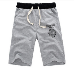 Shorts Men's Summer Sports Five-cent Men's Casual Pants Loose Beach Pants Big Pants Shorts Clothes Grey M