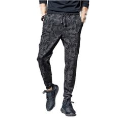 Trousers Men's Summer Thin Ice Silk Casual Trousers Long Trousers Straight Tube Fast Dry Trousers Black xl