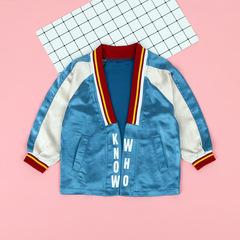 Girls Coat Autumn Jackets Children Outerwear Windbreaker Long Sleeve Jacket Spring blue 160