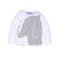 Baby Girl Clothes Boy Clothing Spring Animal Cartoon Long Sleeeve Stripe Tops T-Shirt Kids Newborn white 100 cotton
