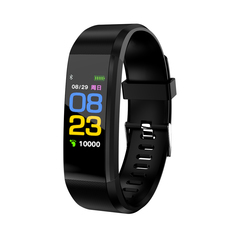 Smart Sport Bracelet Heart Rate Monitor Wristband Fitness Bracelet for Android iOS easy charge black one size