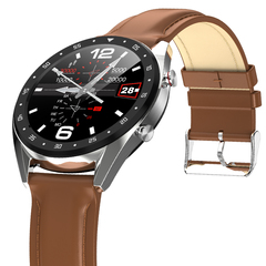 Fashion Ultra Thin Leather Sport Bluetooth Waterproof Smart Watch Business watch Steel band Swatch black+steel one size