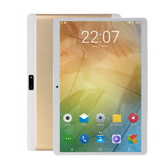 Android pad 3/4 design and full HD 10.1 inch IPS android 9 tablet 6Gb+64G WIFI Dual SIM 4G pad app Silver 6g+64g