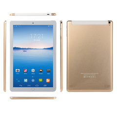 Android pad 2/3/ 4 design and full HD 10.1 inch IPS android tablet 6Gb+64G WIFI Dual SIM 4G app Gold 6g+64g