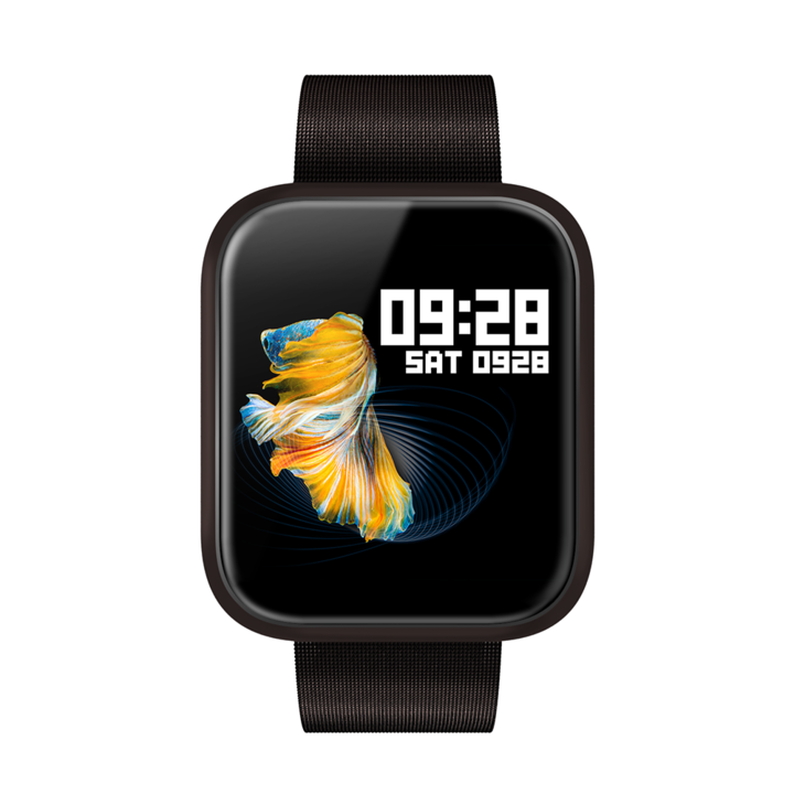 Cheaper Bluetooth Smart Watch for Apple Watch series 4/ 5 sport watch HD Screen Wearable Devices black 2 bands(metal&rubber)