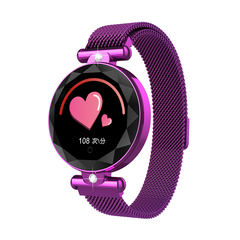 Smart Watch Activity Woman crystals watches sport Health Fitness Heart Rate Monitor BloodPressure purple one size