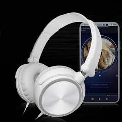 ALAMO Headset Mega Bass Lightweight and Foldable white