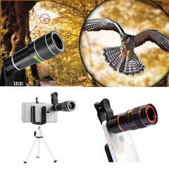 ALAMO High Definition External Photo Lens with 20-fold Mobile Telescope Lens black