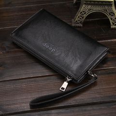 Men's Wallet Long style Zero Wallet Multi Card Position Handbag black one size