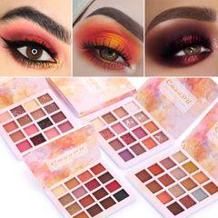 16 color shiny Eyeshadow makeup matte and metal waterproof flash eye shadow disc 1#