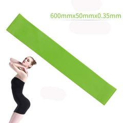 Resistance band fitness equipment rubber band yoga gym strength training exercise rubber band green one size