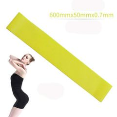 Resistance band fitness equipment rubber band yoga gym strength training exercise rubber band yellow one size