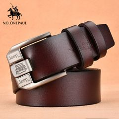 PU Leather For Men High Quality Black Buckle Jeans Belts Cowskin Casual Belts Business Belt coffee