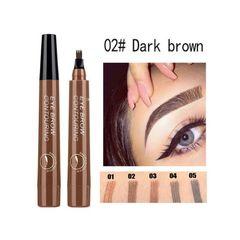 4 Tip Microblading Tattoo Eyebrow Pencil Brow Tattoo Pen Paint Makeup Eyebrows Waterproof dark brown