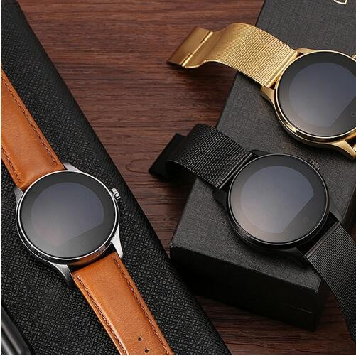 Smart Watch K88H IPS Round Screen Support Heart Rate Monitor Bluetooth smartWatch For IOS Android gold Meteal