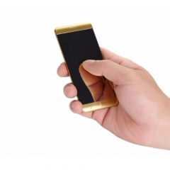 Mini Ultrathin Card Luxury Anica A7 cell Phone With MP3 Bluetooth Dual SIM Cards mobile phone Gold