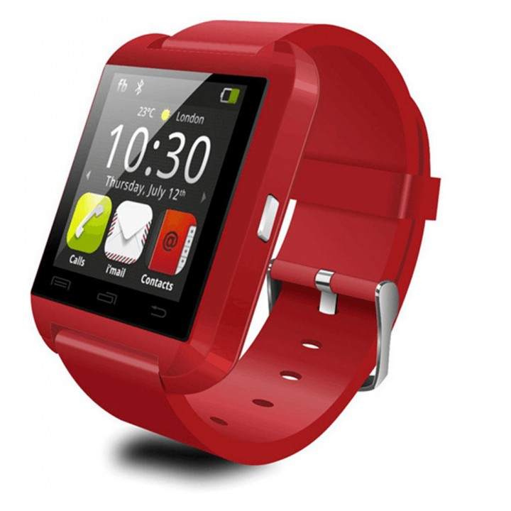 Smart Watches U8 Sport  Pedometer Handsfree Bluetooth Smartwatch Wristband for Android Phone red one size
