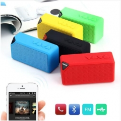 Mini Bluetooth Speaker TF USB FM Radio Wireless Portable Musicsound Box Subwoofer Loudspeaker black one size