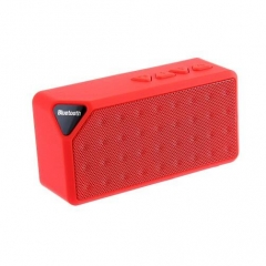 Mini Bluetooth Speaker TF USB FM Radio Wireless Portable Musicsound Box Subwoofer Loudspeaker red one size