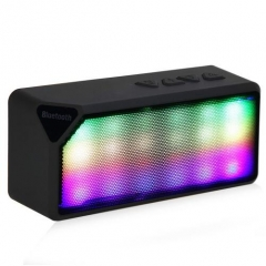 High Quality Mini Wireless Colorful LED Lights Pulse Bluetooth Speaker Support Handsfree TF FM Radio black one size